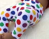Baby Girl Baby Boy Colorful Polka Dot Leggings: Toddler Boy Toddler Girl, Halloween leggings, baby clown pants, skittles pants, m and m's