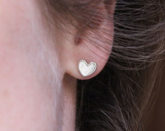 Heart earrings made of sterling silver