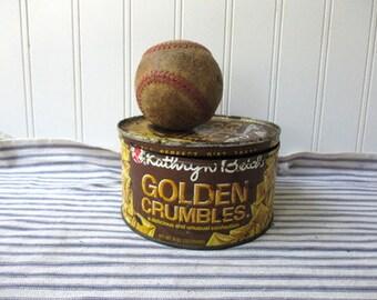 Vintage candytin Bikes Kathrn Beich Golden Crumbles advertising storage container art supply