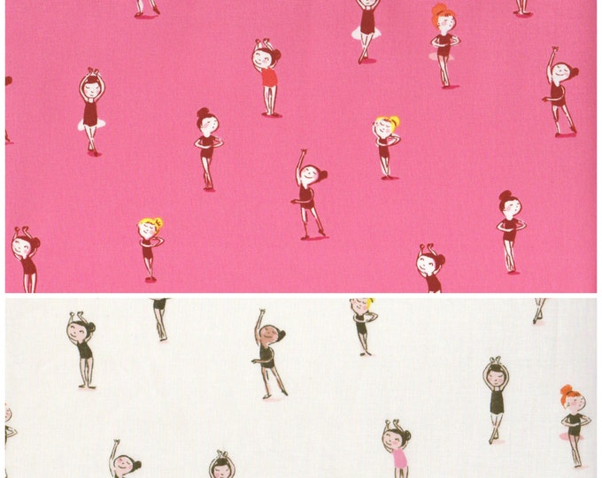 Tiger Lily by Heather Ross - Ballerinas ballet dancers bundle HR40932, half yard set