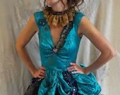 Melancholy Circus Costume... halloween cosplay vintage performer clown acrobat dress bloomers festival fire eater collar