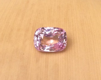 Loose Pink Sapphire - 8.80 x 6.31mm Rectangular Cushion cut Sapphire weighing 2.62 carats - Perfect for Your Navy and Pink Wedding - LSG219