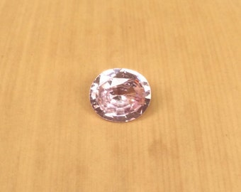 Loose Pink Sapphire - 6.79 x 5.87mm, 3.10mm deep Natural Loose Oval cut Blush Pink Sapphire Gemstone weighing .95 carats - LSG244