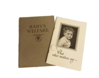 Two 1927 baby care pamphlets - Borden Eagle Brand milk - What Other Mothers Say and Baby's Welfare - RARE