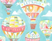 Up and Away Art Print | Hot Air Balloons | Katie Daisy Wall Art | 8x10 | 11x14