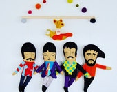 The Beatles // Yellow Submarine // Unique one-of-a-kind art for that sweet Beatles' loved in your life