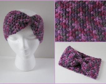 Teen Ear Warmer/Headband, Teen Head Warmer, Teen EarWarmer, Crochet Turban Headband, Color - Berries, One Size fits Most Teen Girls & Women