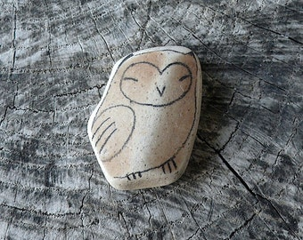 Beach Pottery Owl - Totem, Animal Medicine, Spirit Animal