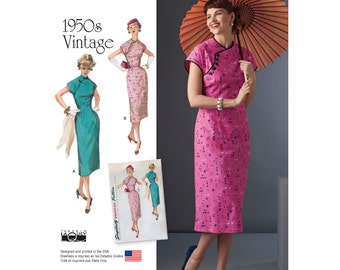 Misses' Vintage 1950's Dress Sewing Pattern - Simplicity 8244 Sewing Pattern  Sizes: 6 - 8 - 10 - 12 -14 or 14 -16 -18 -20 -22