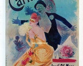 French Poster - Carnival 1892 Theatre de L'Opera by Cheret 1968 Reproduction Print 8-1/2 x 12