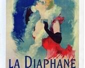 French Poster - La Diaphane  1890 Face Powder Advertisement  - 1968 Reproduction Print 8-1/2 x 12