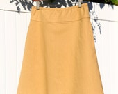Cotton Linen Blend A-Line Skirt, Simple Modern Skirt, More Colors Availible, Custom Made, You choose Fitted, Comfy, Loose