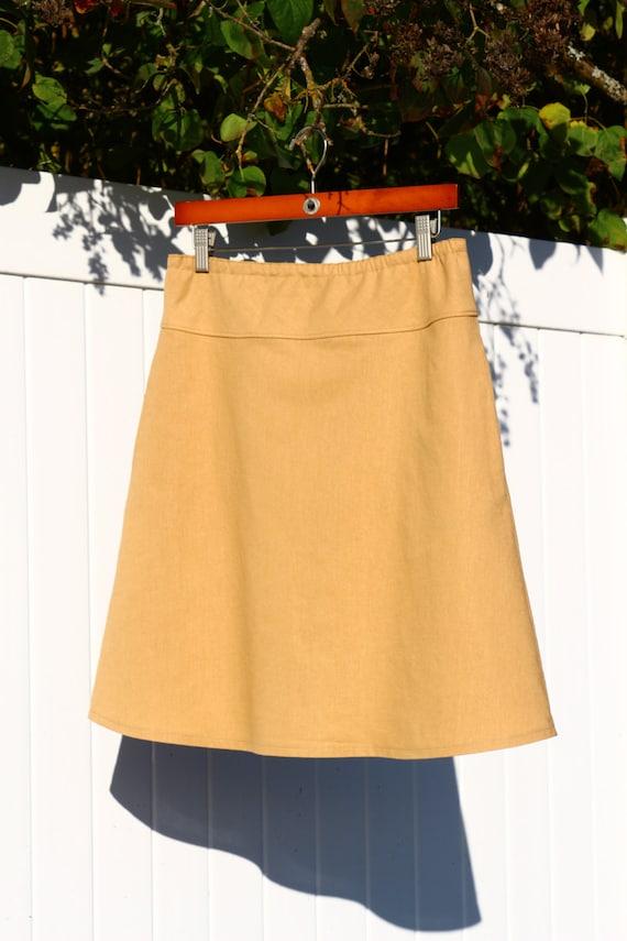 cotton linen blend a line skirt simple modern skirt more