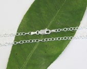 "Sterling Silver Chain 3mm Diameter 24"" Chain"