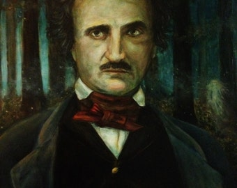 POE'S WOODS - Edgar Allan Poe in the Forest with a Spirit