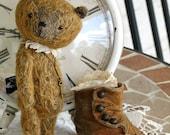 Shawn Mohair Teddy Bear by Woollybuttbears 6 inches tall