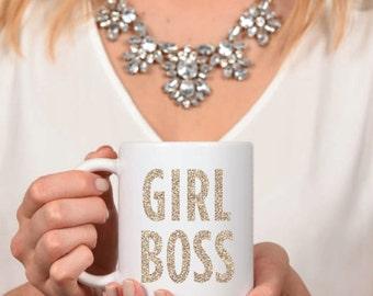 GIRL BOSS Mug - Inspirational - Coffee Mug - Tea - Gift - Work Mug - Boss - Hustlin - CEO - Like a Boss - Office Decor - Gifts for Her