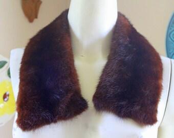 Vintage Fur Collar LUX Mink Shawl 1950s