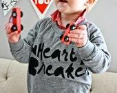 Heart Breaker - kid's long sleeve Valentine's day shirt - Valentine Unisex Sweatshirt