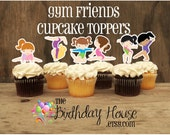 Gymnastics Friends- Set of 24 Assorted Gymnast Cupcake Toppers by The Birthday House