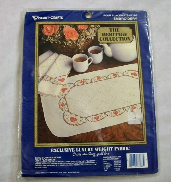 Vogart craft kit stamped for embroidery crafts