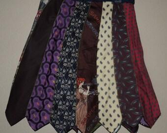 Vintage Mens Necktie Skirt