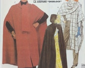 Plus Size Misses Cape Pattern Simplicity 7438 Misses Wrap and Cape Pattern Misses Size 18-24 Long Cape Pattern Make a Halloween Cape