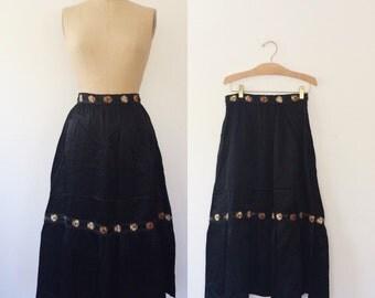 embroidered skirt / vintage Gunne Sax skirt / Flores skirt