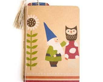 Woodland Gnome Journal - Woodland Sketchbook - Blank 5x7 Journal