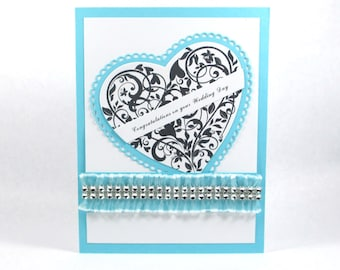Wedding cards, hearts, I love you, Congratulations on your wedding, wedding greeting cards. elegant wedding card