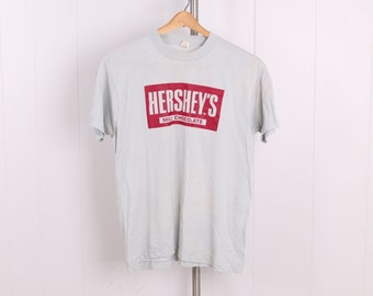 vintage 1990s Hersheys Milk Chocolate t shirt deadstock unworn gray cotton Tshirt mens large vtg 80s