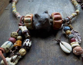 Artisan made amuletic necklace - The Viking Bride - OOAK