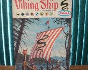 Aurora Viking Ship Model Kit 1962