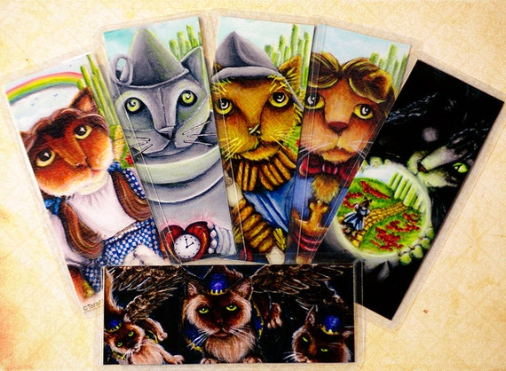 Wizard of Oz Cat Bookmarks, Set of Six