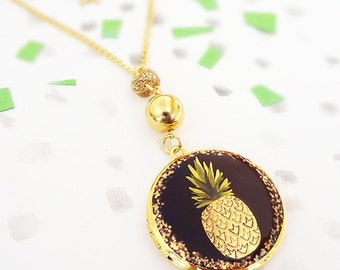 Excellent Fruit Pineapple Locket Necklace
