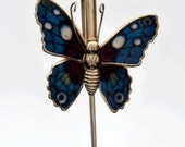 Bookmark Brightly Colored Enamel Gold Tone Metal Butterfly Bible Magazine Bookmark