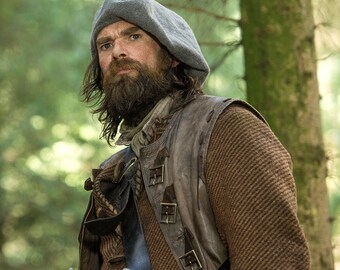 Outlander Scottish Tam Bonnet, Hand Knit Felted Highlands Wool, 12 Different Colors, Made to Order