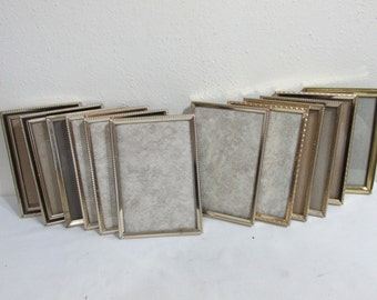 Metal Picture Frames Set of 12 Table Numbers with Backing and Glass 3 x 5 Inches
