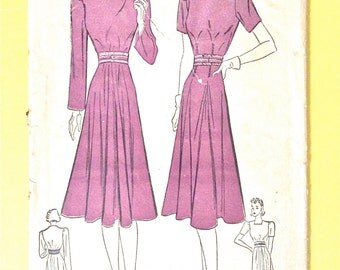 Advance 2173 1930s Afternoon Dress Bust 30 Hip 33 Inches Vintage Sewing Pattern