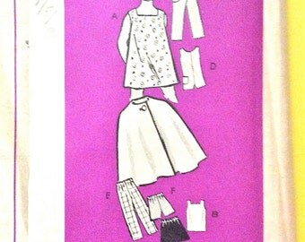 Uncut 1960s 4897 Mail Order Pattern  Girls' Separates Cape Dress Jumper Shorts Skirt Shirt Pants Printed Vintage Sewing Pattern