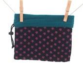 Reversible Project Bag, Black and Pink, Teal, Medium