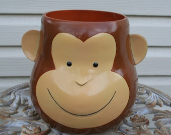 Super Cute Monkey Cookie Jar / No Lid