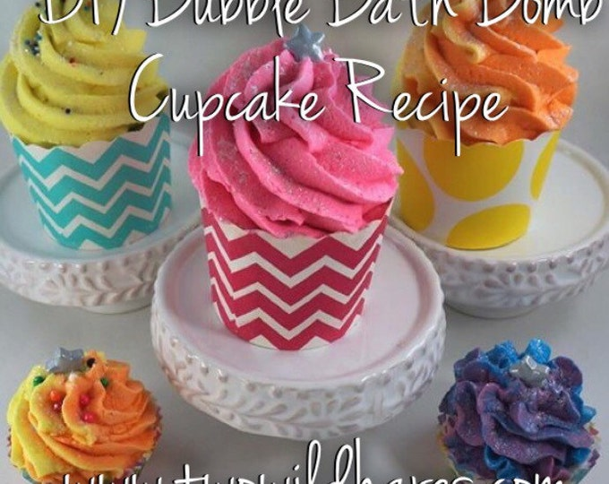 DIY Bubble Bath Bomb Cupcake Recipe & Tutorial Guide (2 recipes in 1)