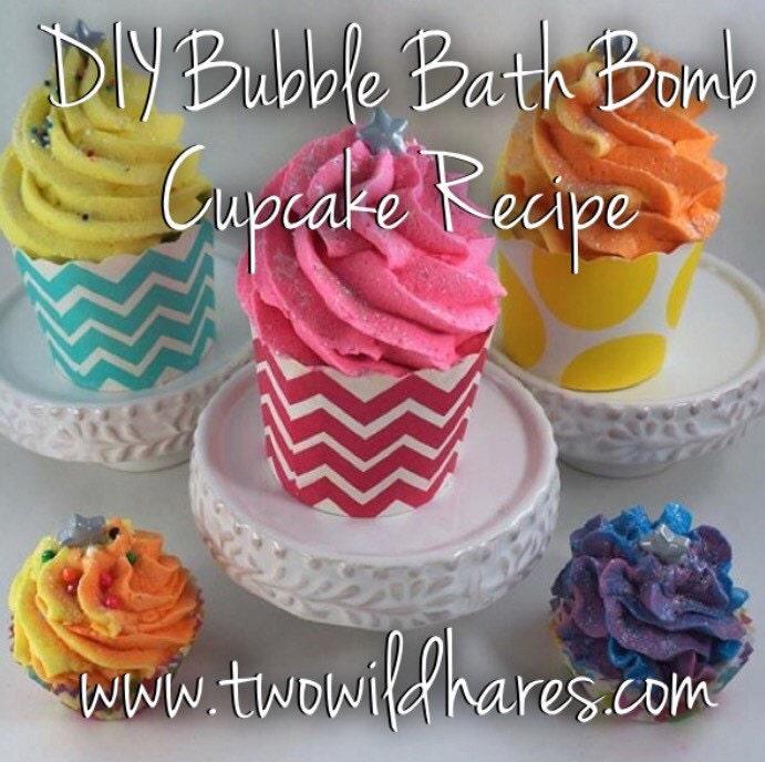 DIY Bubble Bath Bomb Cupcake Recipe & Tutorial Guide 2