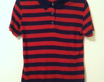 80's Striped Polo