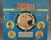 Mid Century 1960s Popeye, Olive Oil Funny Face Maker Toy/ Game Jaymar 1962 Retro Toys Collectible Toys, Toys, Older Toys, Vintage 60's Game