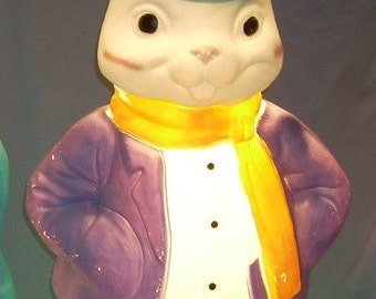 Vintage Empire Easter Lighted Blow Mold Bunny Rabbit 36 inch