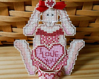 Cross Stitch Ornament or Decoration - Valentina Hare  - Free U.S. Shipping