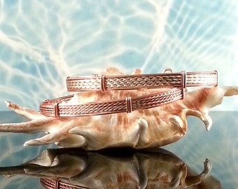 Designer Textured Wire Wrap Bangle