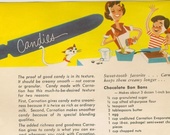 Party Sweets cookbook (booklet size)  Carnation Evaporated Milk recipes